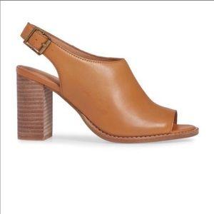 Madewell The Cary Sandal Slingback Leather Heels 9